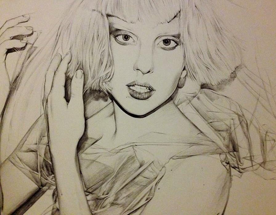 Ballpoint Gaga by luminousBrink