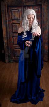 Blue Renaissance Dress 4