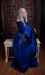 Blue Renaissance Dress 6