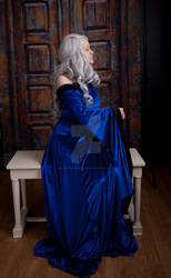 Blue Renaissance Dress 7