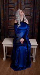 Blue Renaissance Dress 8