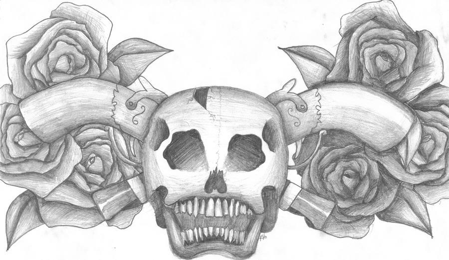 Guns skulls and roses by Aphoticnight on DeviantArt