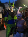 Cell and Majin Bu (Dragon Ball Z) - Lucca Comics by Groucho91