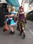 Alice and Ariel steampunk Festa dell'Unicorno 2018 by Groucho91