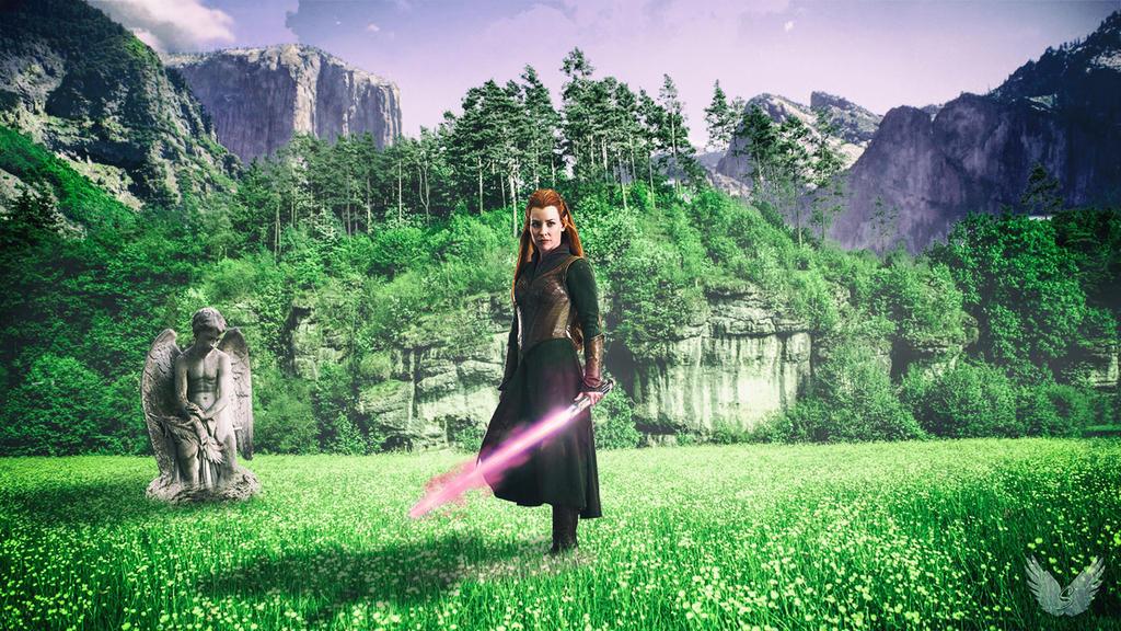 Jedi Apprentice Tauriel [Photoshop art] by SkyInfinity27