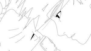 LineArt Sasuke and Naruto by Hyuuugo