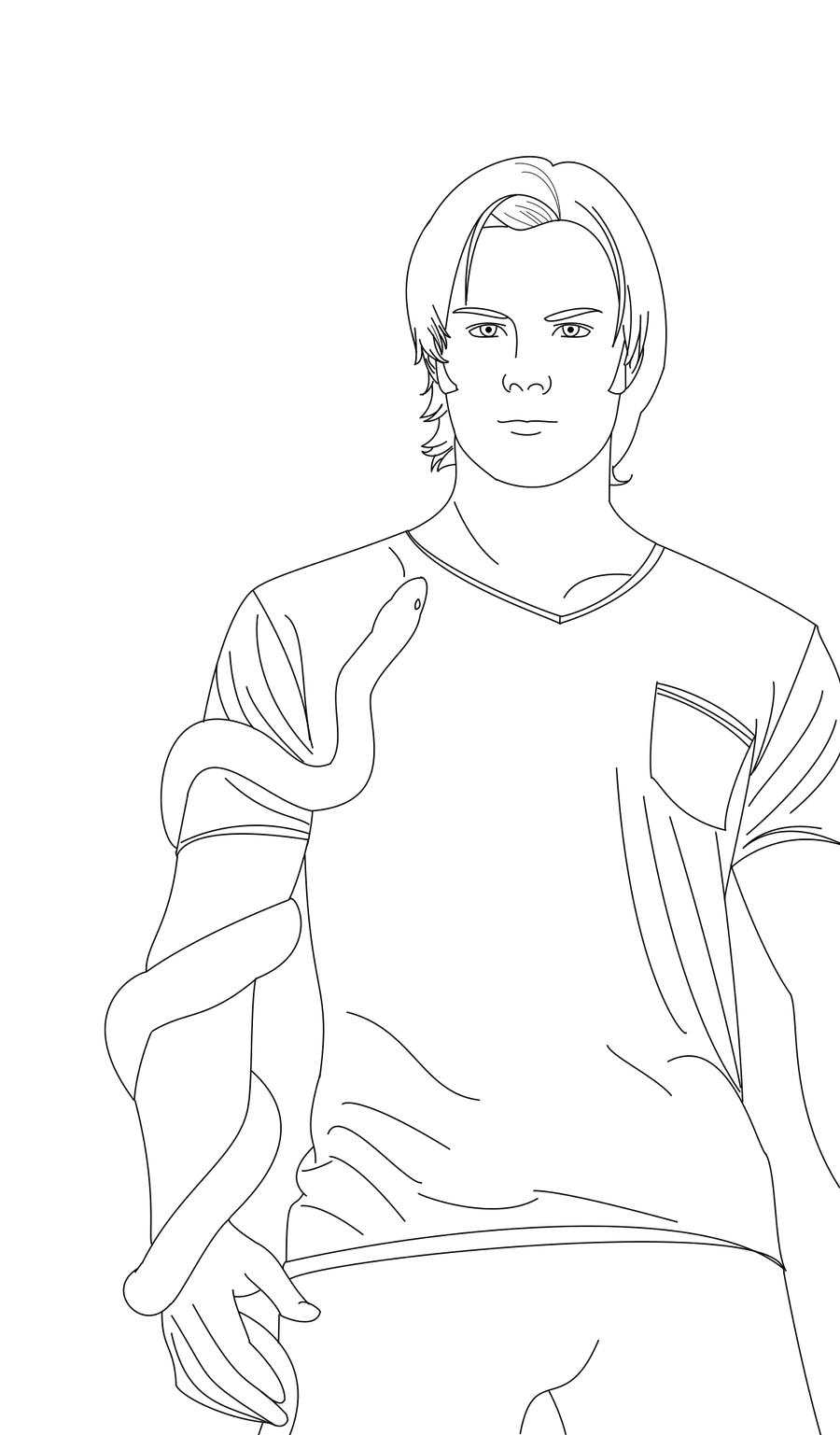 Dean Winchester Free Coloring Pages