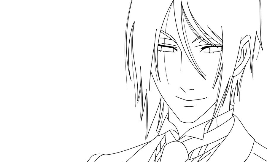 black butler coloring pages coloring pages Gothic Anime Coloring Pages  Black Butler Sebastian Coloring Pages