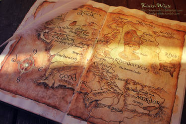 Map of Middle-Earth by Kinko-White