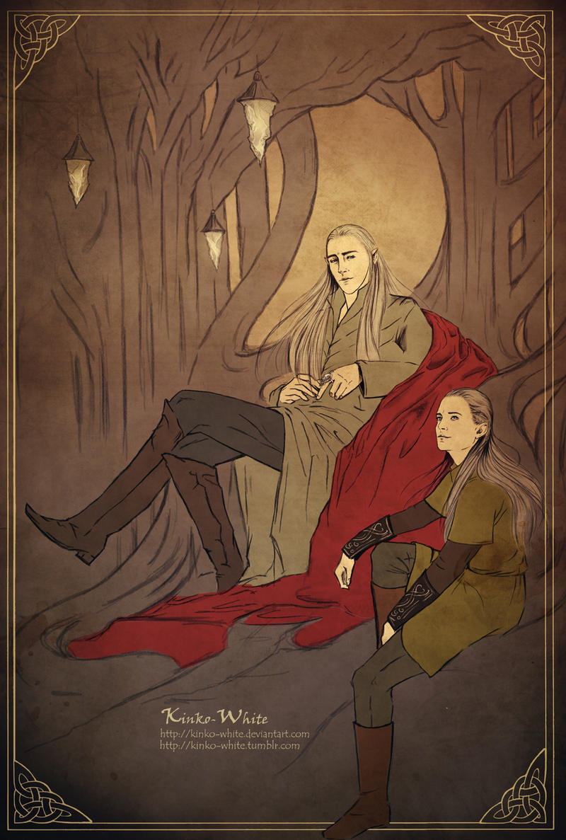 Thranduil and Legolas: Private conversation by Kinko-White
