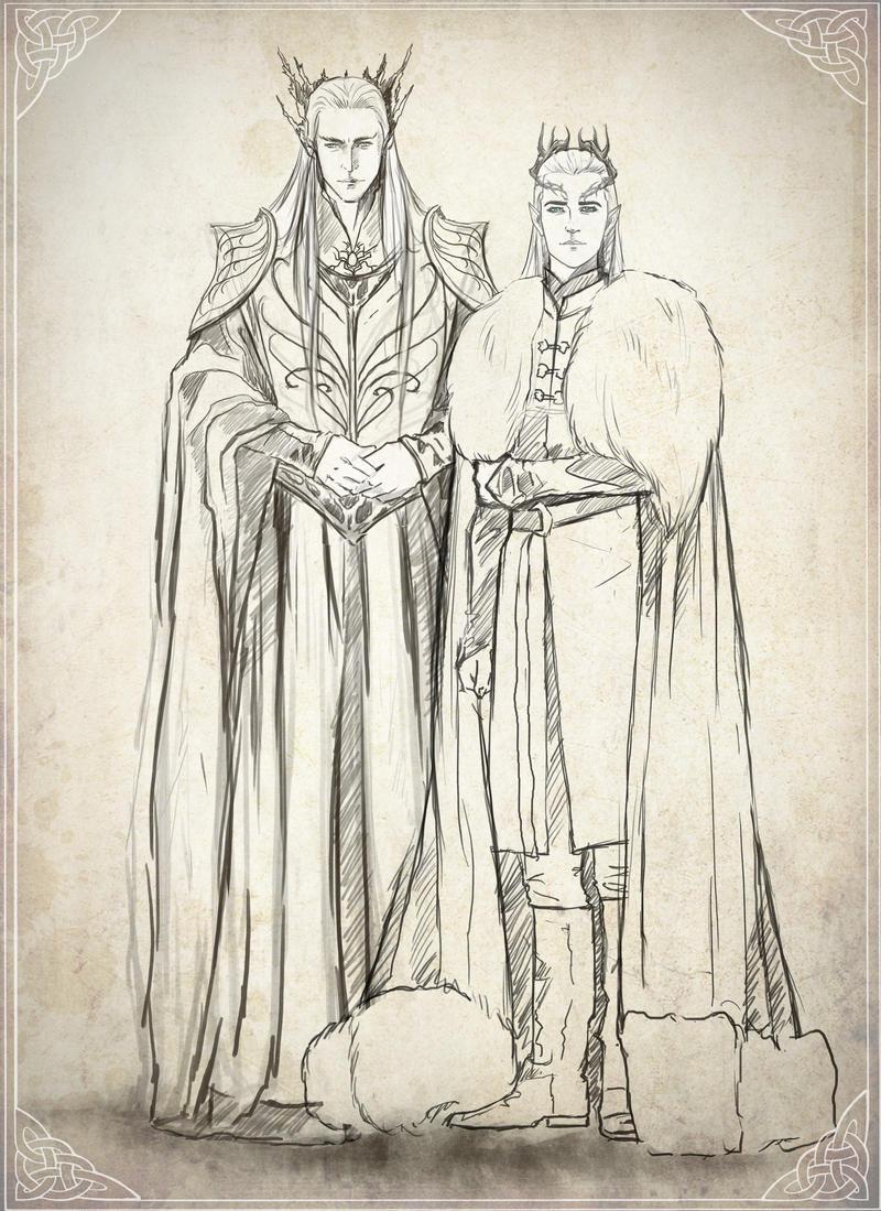 Mirkwood Family sketch by Kinko-White