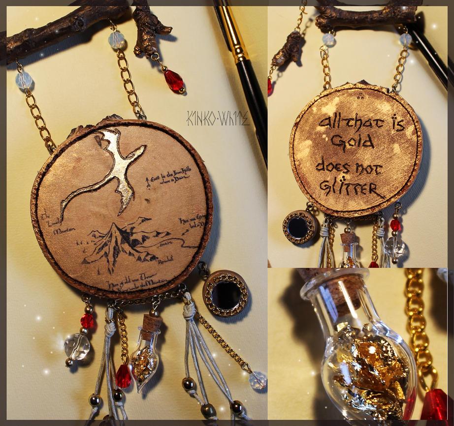 Dragon's Gold Amulet by Kinko-White