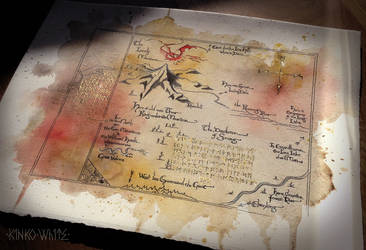 The Lonely Mountain Map by Kinko-White