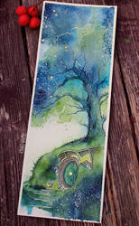 Oak tree Fireflies by Kinko-White