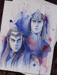 Elrond and Elros sketch