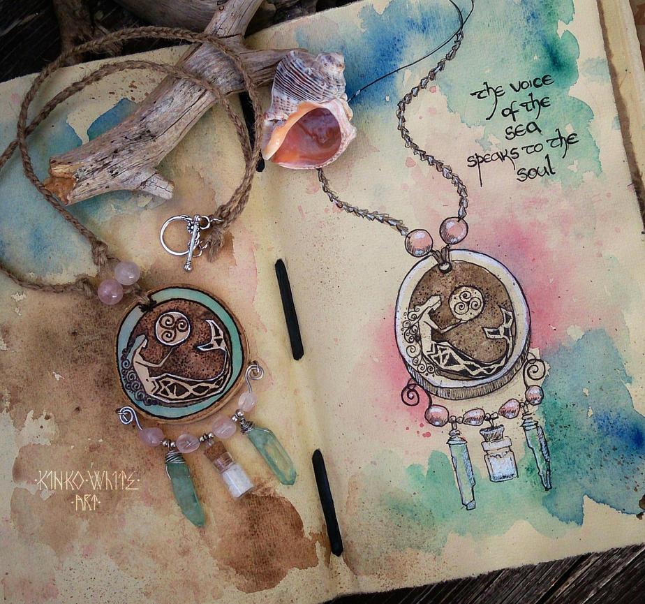 Mermaid Amulet by Kinko-White