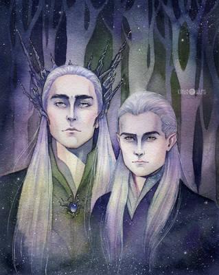 Thranduil and Legolas by Kinko-White