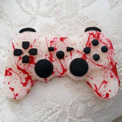 Blood splatter Resin PS3 Controller by Lisa99