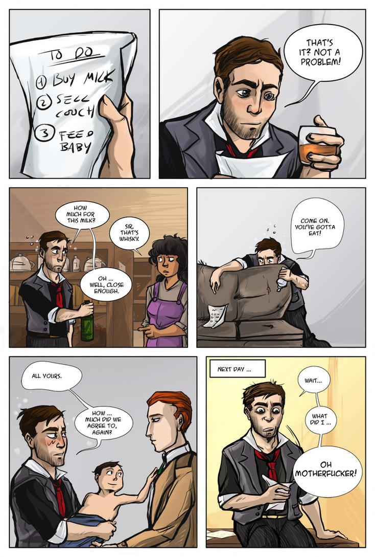 Bioshock Infinite: To-Do List (SPOILERS) by ladymadeofglass