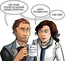 Bioshock Infinite: Father's Day (spoilers) by ladymadeofglass