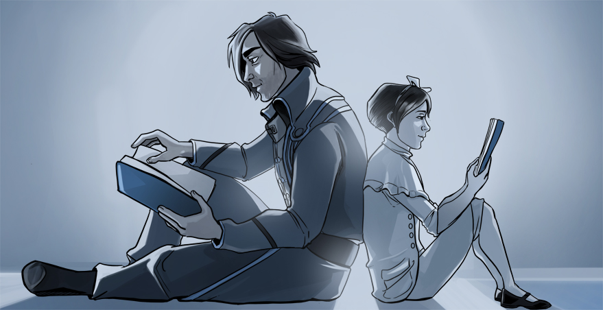 Dishonored: Corvo and Emily by ladymadeofglass