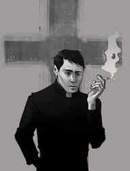 The Exorcist: The Priest With a Face Like a Boxer by ladymadeofglass