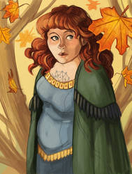 Autumn Witch by ladymadeofglass