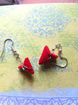 Origami Red Paper Heart Earrings for Valentine's by ArtisticVibrancy