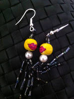 Lips and Tassels Earrings with Attitude by ArtisticVibrancy