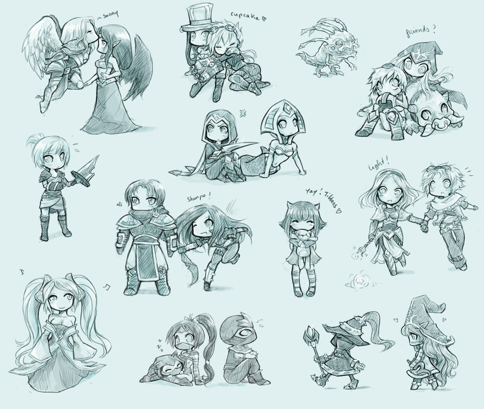 Some League of Legends chibis by ShiNaa