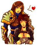 Genderbender Kat and Garen