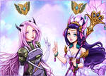 Commission - PsyOps Sona and Splendid staff Nami