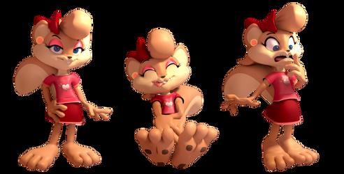 Shauna The Squirrel Renders