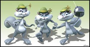 3D: Slappy Squirrel by JCThornton