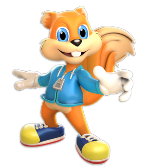 +3D Model Download+ Conker The Squirrel