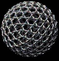 Geodesic Ball - Silver Weave by TaffGoch