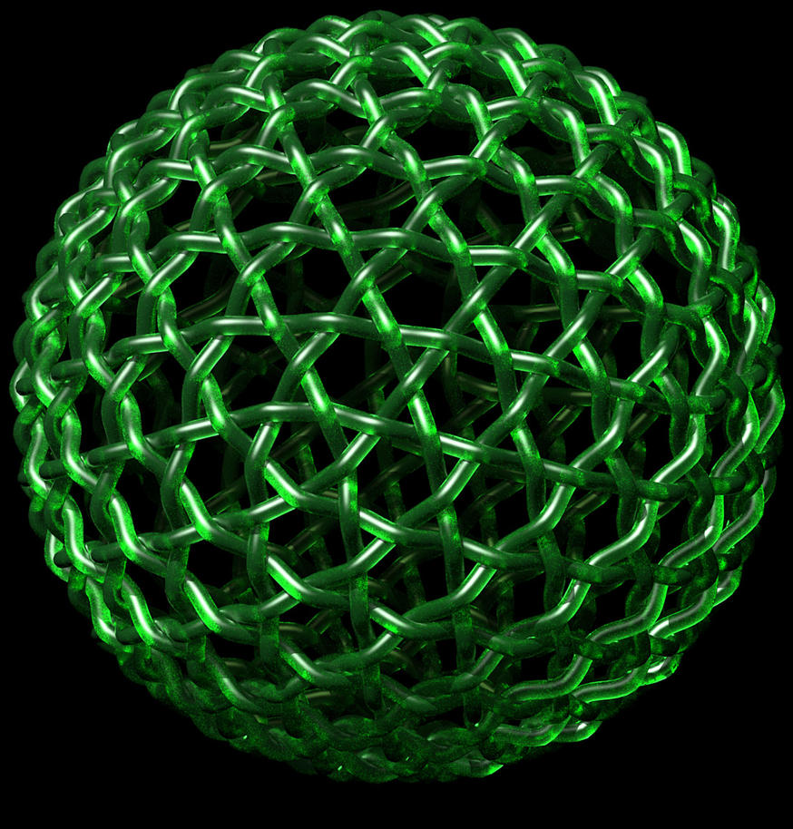 Geodesic Ball - Green Apple by TaffGoch