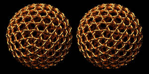 Geodesic Gold Weave