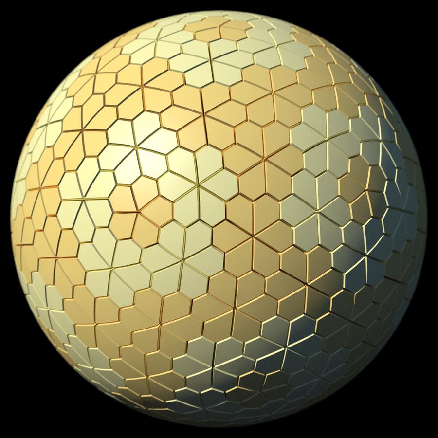 Geometry Study - Floret Tiling by TaffGoch