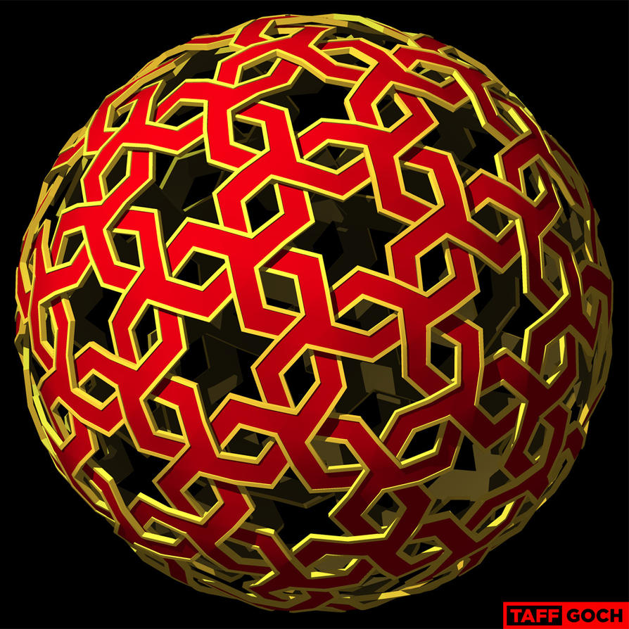 Geodesic, Arab pattern 1e by TaffGoch