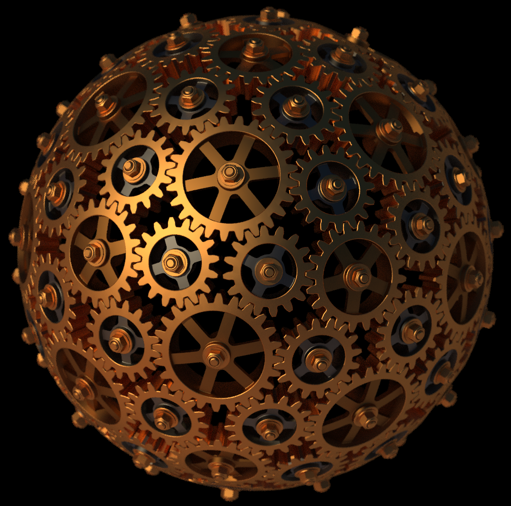 Clockwork - Steampunk Sphere by TaffGoch