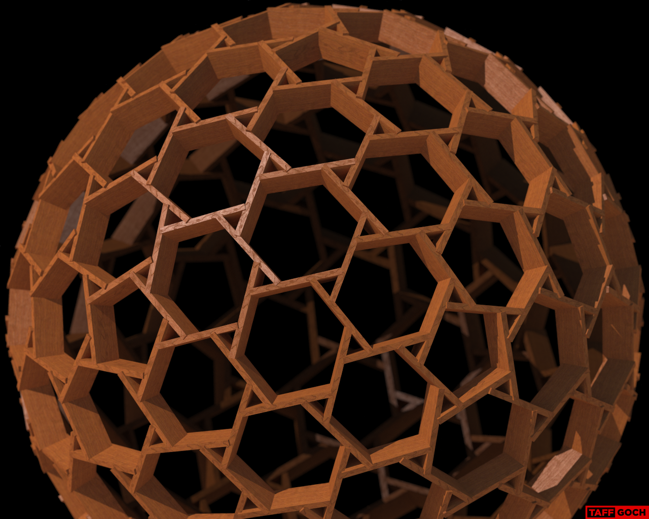 Lumber Reciprocal Frame by TaffGoch