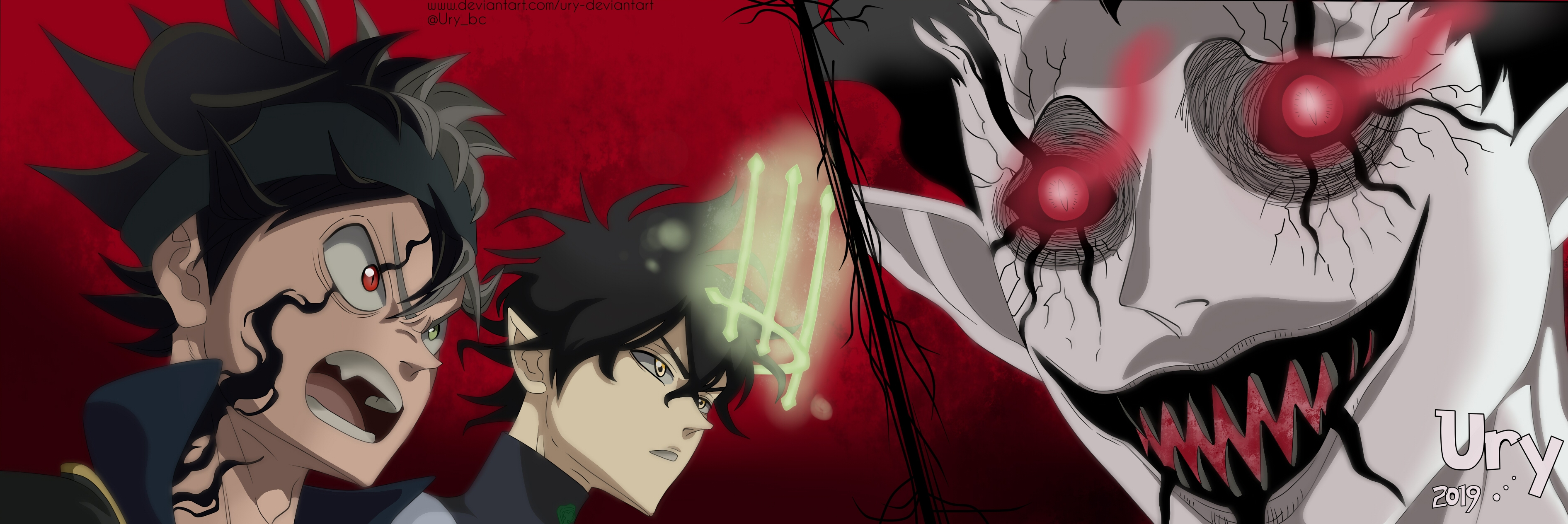 Black Clover Asta And Yuno Vs Devil By Ury Deviantart On Deviantart