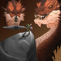 A Link to Smaug by Dragonauroralight