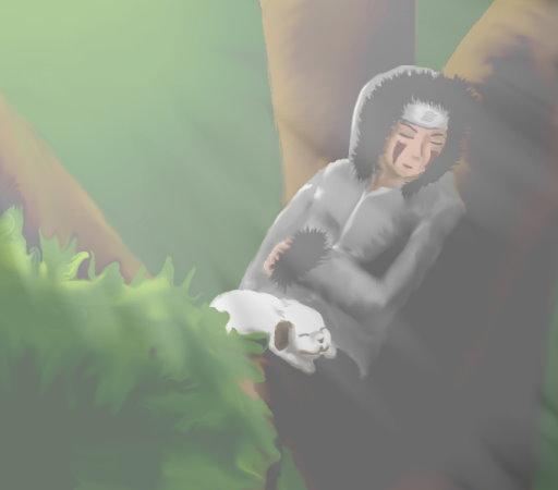 Kiba and Akamaru by SmudgedPixelsArt