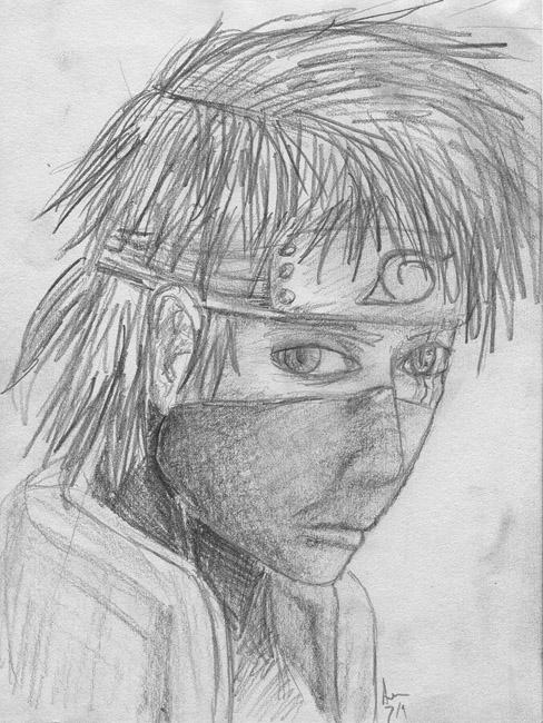 Hatake Kakashi sketch by SmudgedPixelsArt