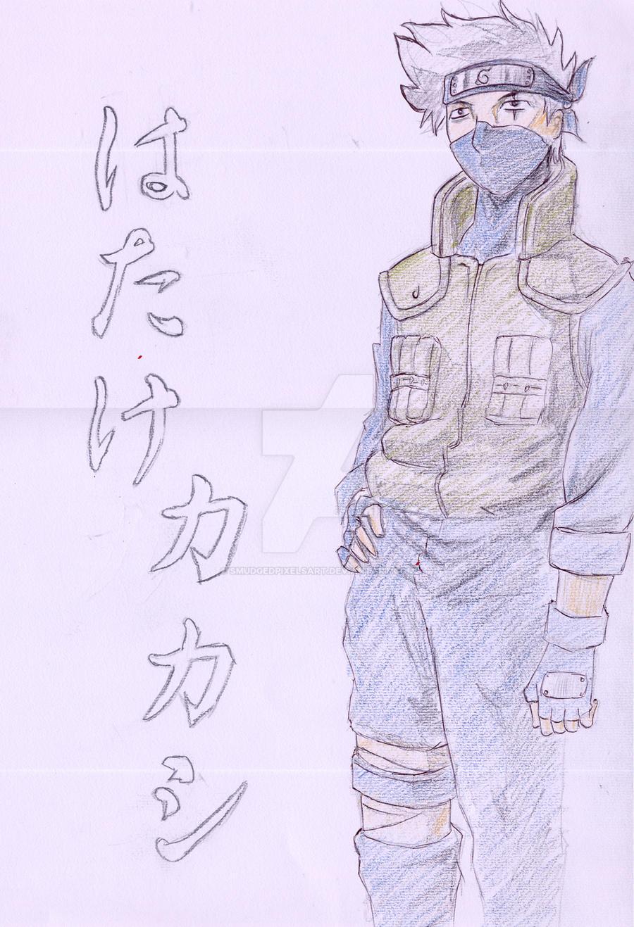 Hatake Kakashi by SmudgedPixelsArt