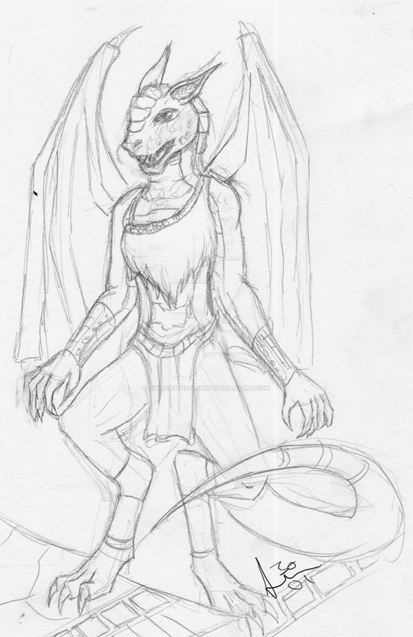 Dragon Princess by SmudgedPixelsArt
