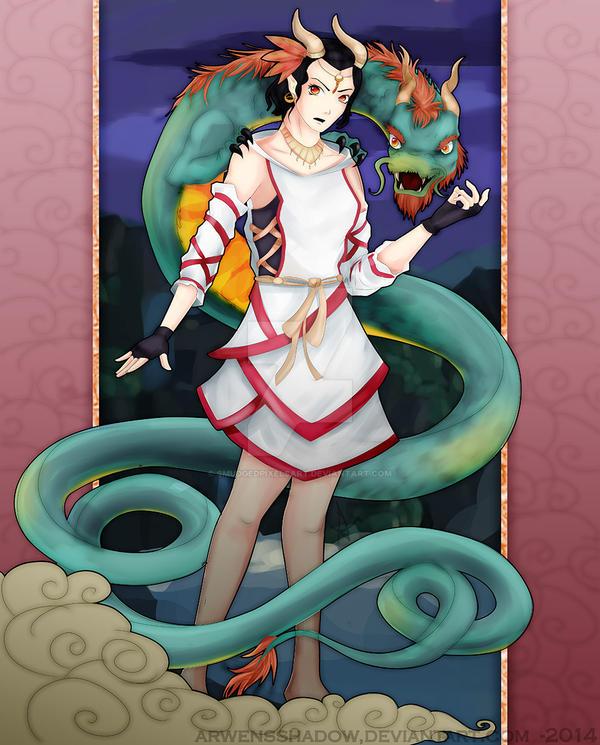 Dragon lady by SmudgedPixelsArt