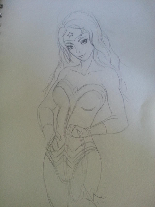 Wonder woman Pencil sketch by arwensshadow